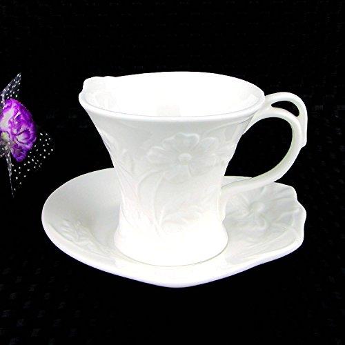 HONGYUANZHANG Keramik Kaffeetasse Tasse Hotel Restaurant Becher Kommerzielle Kaffee Tasse (150 Ml)