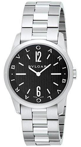Bvlgari sorotenpo negro Dial hombres reloj st37bss