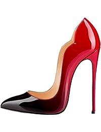 Zapatos Tacón de aguja formales Calaier para mujer ZD8cm