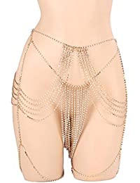 1e6e189d909c Xshuai Jupe de chaîne de Corps Femme, fête de boîte de Nuit Chaîne de Corps  Bijoux Femme Bikini Tour de Taille…
