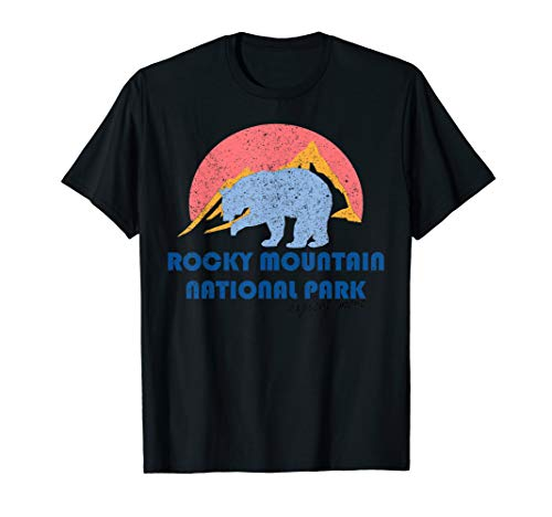 Rocky Mountains Nationalpark Colorado Vintages Geschenk T-Shirt