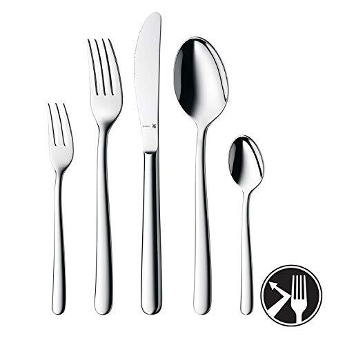 WMF Kult Besteckset 6 Personen, 30 teilig, Monobloc-Messer, Cromargan protect Edelstahl poliert, glänzend, kratzbeständig, spülmaschinengeeignet