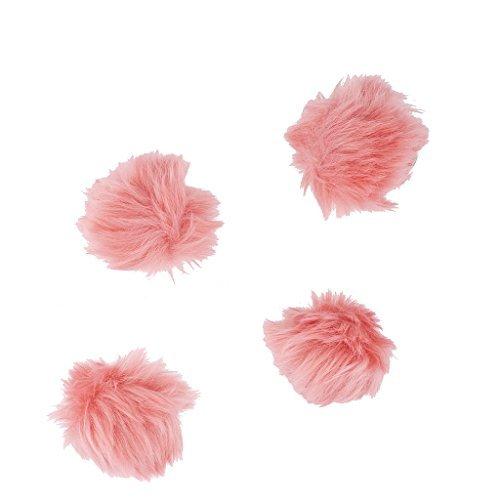 aby Pink Fell Brustkrebs Pom Pom Haar Clip Set (4Stück) (Großhandel-zubehör)