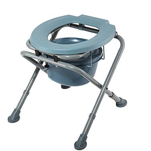 Sedia da toilette pieghevole multifunzionale toilette sedile altezza regolabile disabili donne incinte anziani mobile WC-Seat,Blue,44X48X48CM