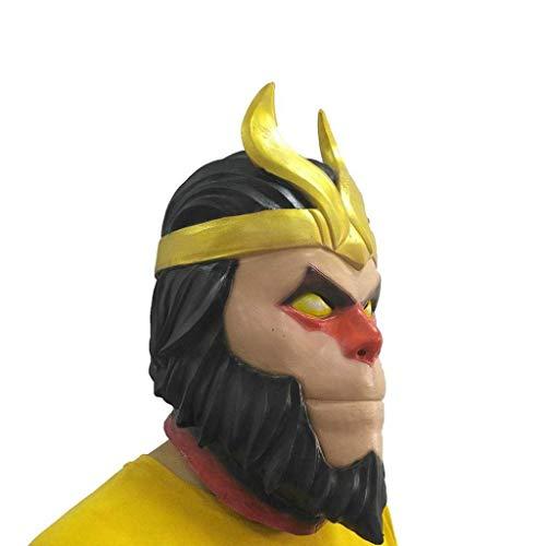 CS-LJ Hallowmas Dekorationen Halloween Maske Kostüm Masken Cosplay Goku Latex Kapuze Rollenspiel Requisiten for Allerheiligen - Halloween Goku Kostüm