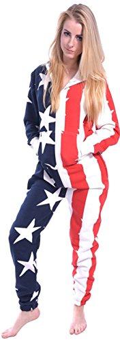 Newfacelook mit Kapuze – USA Flagge - 2