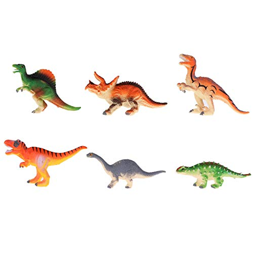 iixpin Kinder Dinosaurier Set Realistische Figur Modell Kleinkinder Spielzeug Dinosaurier World Kindergeburtstag Party Dekoration 6/12 Kleinen Dinosaurier Multicolor(Typ B) One Size