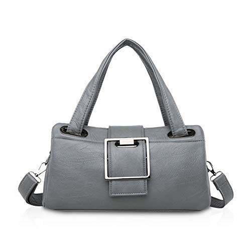NICOLE & DORIS Damen Handtaschen Baguette Handtaschen für Damen Mode Umhängetasche Handtasche Schultertasche Frauen Retro Handtasche PU Leder Grau