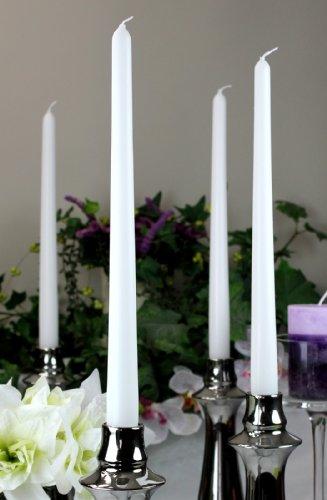 Spitzkerzen Kerzen Markenkerzen Tafelkerzen Leuchterkerzen Dinnerkerzen 300/23 mm weiß, 12 St.