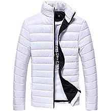 63783b8083fa7c Riou Herren Winterjacke Baumwolle Stehkragen Zipper Warme Winter Dicken  Mantel Jacke Übergangsjacke Steppjacke,Männerjacke Daunenjacke