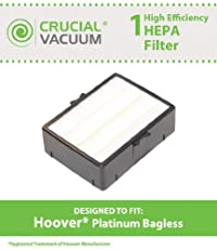1 Hoover HEPA Filter, Fits Platinum Bagless Upright Models UH70015 & UH70010, Part # 38765035, Designed & Engineered by Crucial Vacuum
