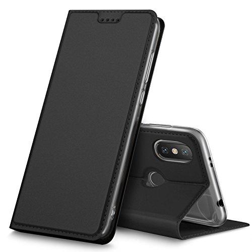 Geemai Xiaomi Redmi S2 Funda, Slim Case Protectora PU Funda Multi-ngulo a Prueba de Golpes y Polvo a Prueba de Silicona con Soporte Plegable para Xiaomi Redmi S2.(Negro)