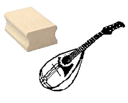 Stempel Holzstempel Motivstempel « MANDOLINE » Scrapbooking - Embossing Musik Musiker Komponist komponieren Zupfinstrument
