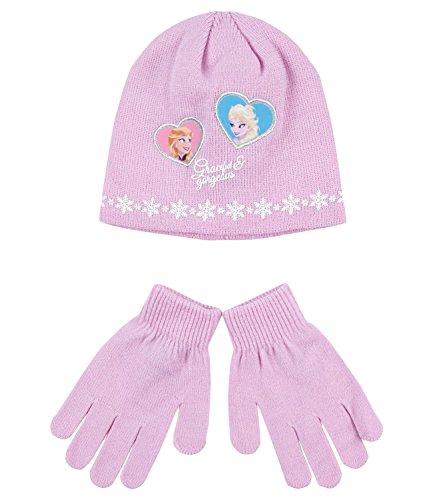 Disney Frozen - Il regno di ghiaccio Ragazze Confezioni 2 pezzi: berretto e guanti - malva - 54