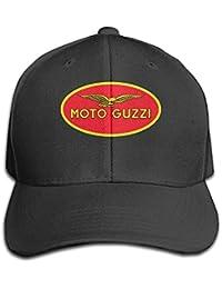 Moto Guzzi Logo Adjustable Peaked Baseball Caps Hats Duck Tongue Hat For Mens Womens