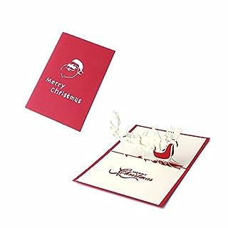 3D Christmas Cards Pop Up Merry Christmas Series Santa's Handmade Custom Greeting Cards for Xmas/New Year by Anano(Santa Claus Cards )