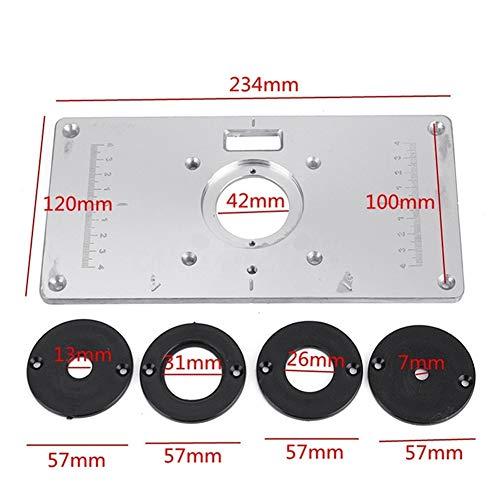 Aluminium Router Tabelle Insert Plate Router Tischeinsatzplatte für Holzbearbeitungstische 235 * 120 * 8mm