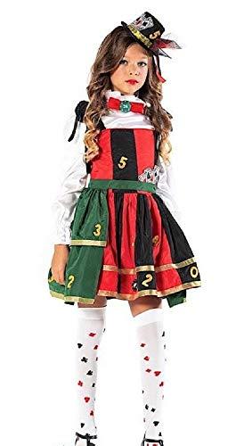 Fancy Me Italienisches Kostüm für Mädchen Deluxe Casino Lady Luck Las Vegas Karneval Halloween Kostüm Outfit (Vegas Mädchen Kostüm)