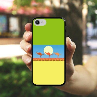 Apple iPhone X Silikon Hülle Case Schutzhülle Australien Känguru Urlaub Hard Case schwarz
