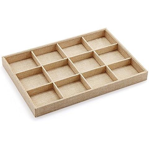 Homestia Lino composito Jewelry Box dell'organizzatore di