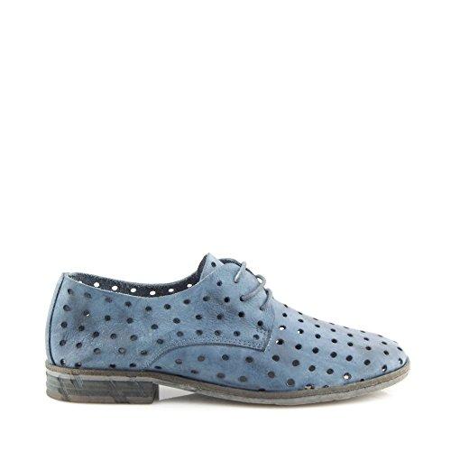 Felmini , Chaussures de ville à lacets pour femme Bleu - Azzurro
