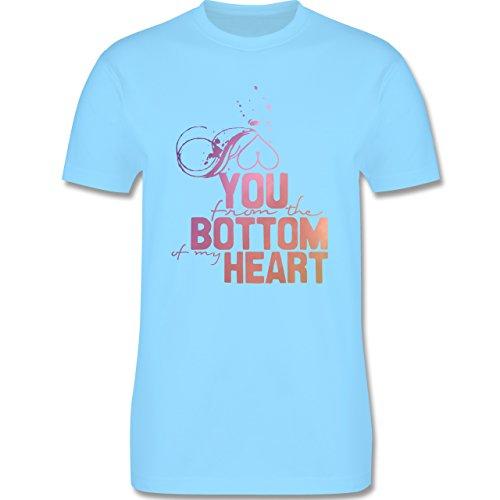 Statement Shirts - I love you from the bottom of my heart - Herren Premium T-Shirt Hellblau