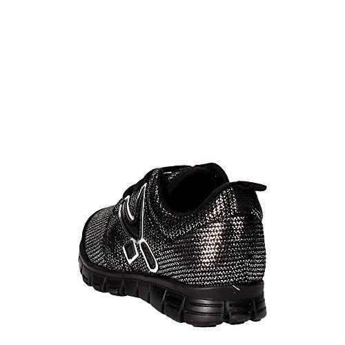 Snappy 407.30 Sneakers Fille Noir/Argent
