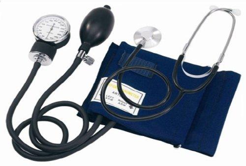 Focus Oberarm Blutdruckmessgerät + Stethoskop + Tasche Neu -