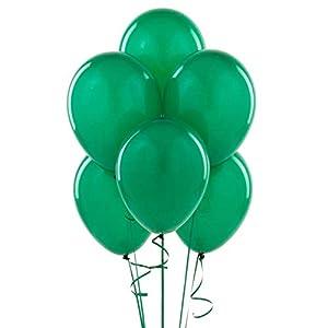Gifts 4 All Occasions Limited SHATCHI-1030 - Lote de globos de látex (100 unidades, 25,4 cm), color verde oscuro