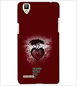 PrintDhaba Heart with Quote D-1158 Back Case Cover for OPPO F1 (Multi-Coloured)