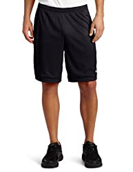 Champion Mens Long Mesh Short With Pockets,Black,LARGE