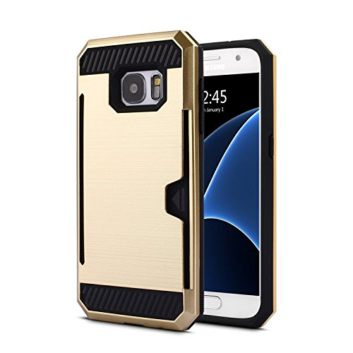 Samsung-Galaxy-S7-Premium-Back-Case-Bracevor-Shock-proof-Anti-slip-Shimmer-Protective-grip-back-Cover-Golden