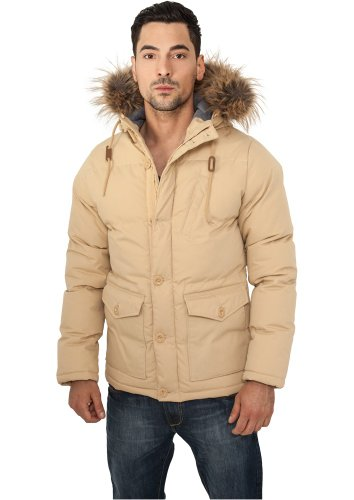 Urban Classics CHAMBRAY LINED PARKA - Beige, Poliestere, 3XL