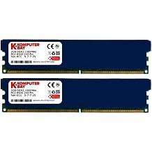 Komputerbay - Kit módulo de memoria DIMM (240 Pin), 4GB (2x 2GB), DDR2, PC2 8500, 1066Mhz (incluye difusor térmico de refrigeración adicional)