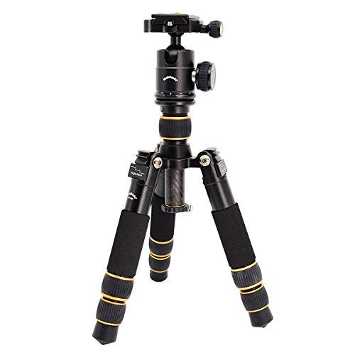 koolehaoda Tragbares, faltbares Mini Dreibein Stativ mit Kugelkopf für Spiegelreflexkameras (DSLR), Canon, Nikon