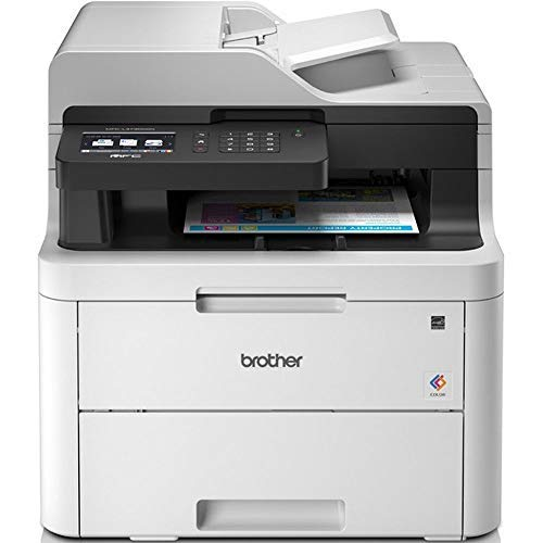 Brother MFC-L3730CDN Imprimante multifonctions 4 en 1 Laser |couleur | silencieuse 45db | Mémoire 512Mo|Wi-FI | impression recto-verso | connexion ethernet | Inclus 1 000 pages de Toner