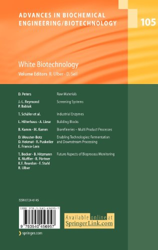 105: White Biotechnology (Advances in Biochemical Engineering/Biotechnology)