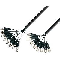 Adam Hall Cables K3L8MF0500 - Cable multicore XLR (multicore, macho/hembra, 5 m)