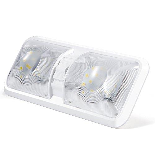 Kohree lampada led da 12v plafoniera tetttuccio illuminazione interna per auto / rv / rimorchio / camper / barca luce bianco naturale 4000-4500k 48 x 5050 smd