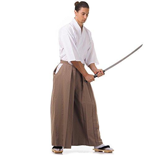 Princess of Asia Kendo Gi Kimono & Hakama Hose Laido Outfit (Beige & Weiß) Kimono Hose