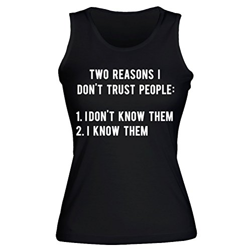idcommerce Two Reasons I Don't Trust People: 1. I Don't Know Them 2. I Know Them Women's Tank Top Shirt