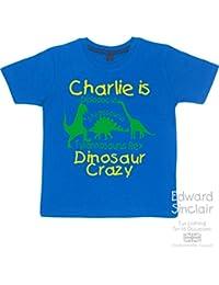 Dinosaur Crazy personalizado con nombre