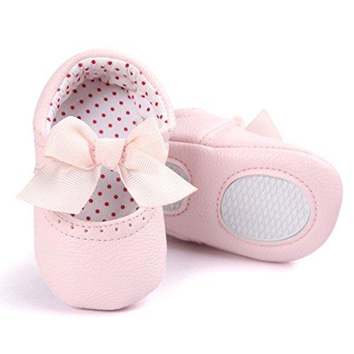 Clode® Kleinkind Baby Mädchen Bowkot Leder Schuhe Weiche Sohlen Krippe Schuhe Prinzessin Schuhe Rosa