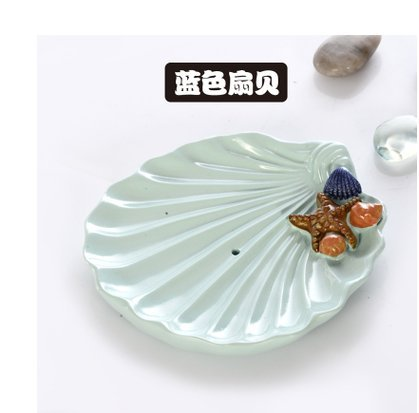 SUHANG Creative Soap Soap Box Large High-Grade Soap Box Capable Of Draining The Hotel Bathroom Soap Dish Soap HolderBlue Scallop In Shell (Can Drain) (Shell-drain)