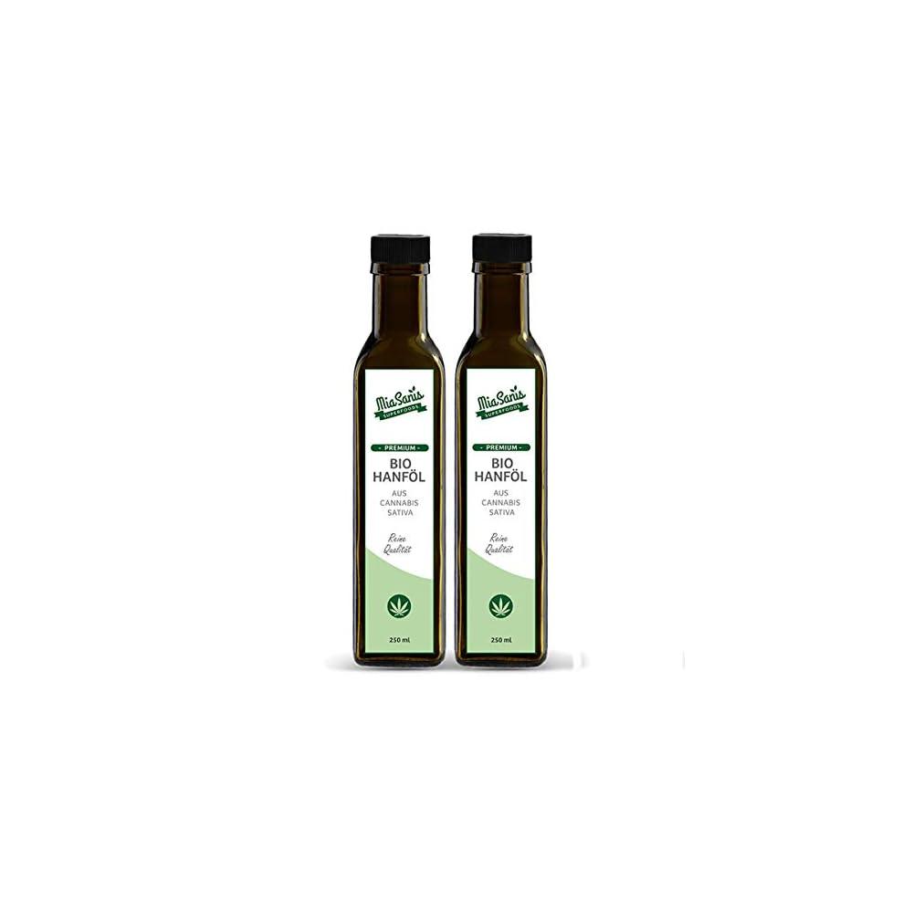 Miasanis Premium Bio Hanfl 500ml Zum Kochen 100 Echter Deutscher Hanfsamen Schonend Kaltgepresst 2 X 250ml Hanfvita