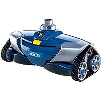 Zodiac Robot Nettoyeur de Piscine Hydraulique, Fond Parois Piscines 12 x 6 m Maximum, Aspiration Mécanique, MX8, Bleu, W70668