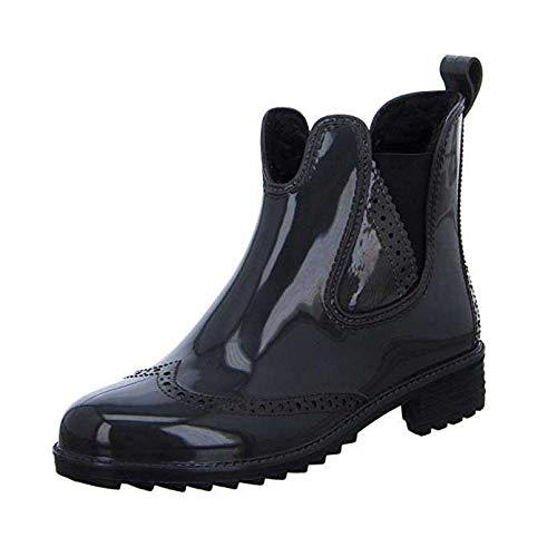 Rieker Damen Gummi-Stiefel gefüttert Grau, Schuhgröße:EUR 40