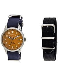 a162097dd136 Zeno Reloj Analógico para Hombre de Cuarzo con Correa en Tela ZE5231-5