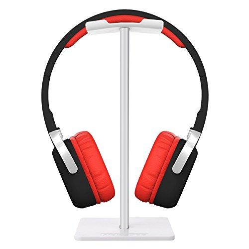 EIVOTOR Universal Kopfhörer Headset Halter abnehmbar Kopfhörer Headset Ständer Alulegierung abziehbar Kopfhörerhalterung Display Aufhänger für Over Ear Kopfhörer Headset Aus Aluminium + TPU + ABS und anderen Kopfhörer