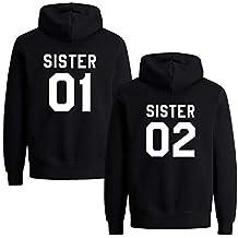 a0f88441f4a4 Best Friends Hoodies für Zwei Mädchen Sister Freunde Pullover Set für 2  Damen Langarm Kapuzenpullover Pulli